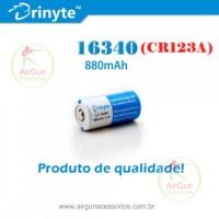 Bateria Recarregável Brinyte Protegida 16340/CR123A 3,7V 880mAh